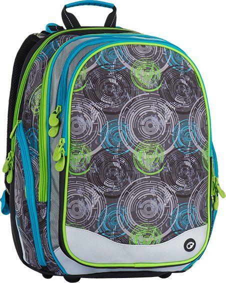 BAGMASTER Plecak szkolny Bagmaster Element 7 B czterokomorowy niebieski + szary + zielony 1