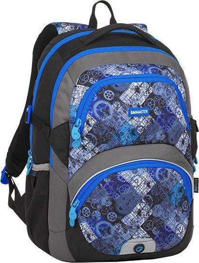 BAGMASTER Plecak szkolny dwukomorowy Theory 8 D niebieski + szarny + szary 1