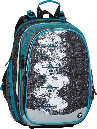 BAGMASTER Plecak szkolny Bagmaster Element 8 B czterokomorowy szary + czarny + niebieski 1