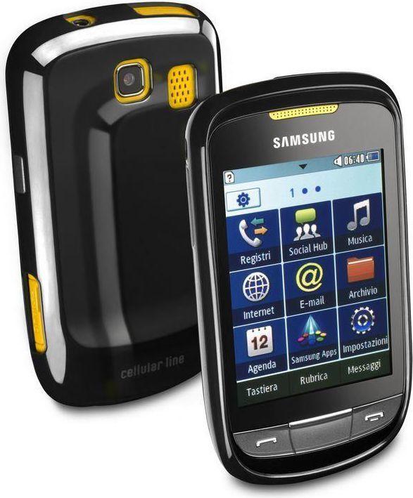 Cellular Line Etui na Samsung Corby 2 (CSHCKCORBY2BK) 1