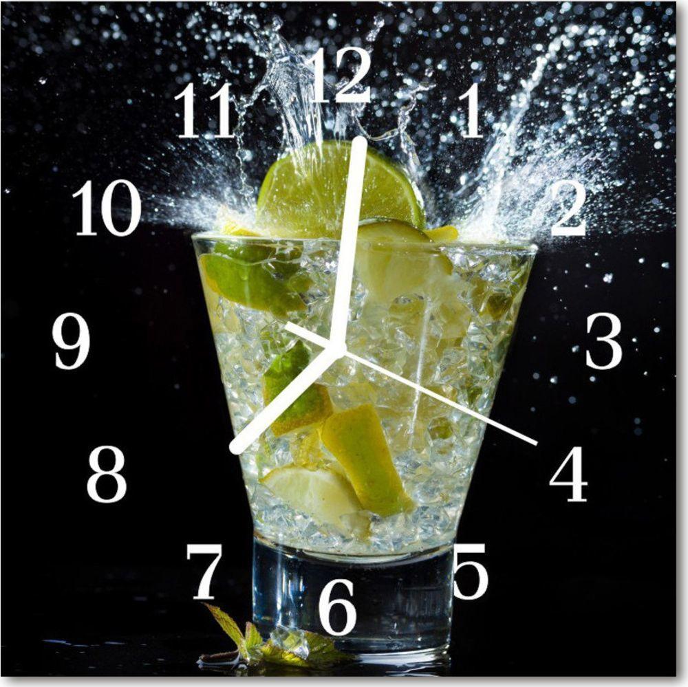 Tulup Zegar szklany kwadratowy Koktajl 30x30 cm -62417804 1