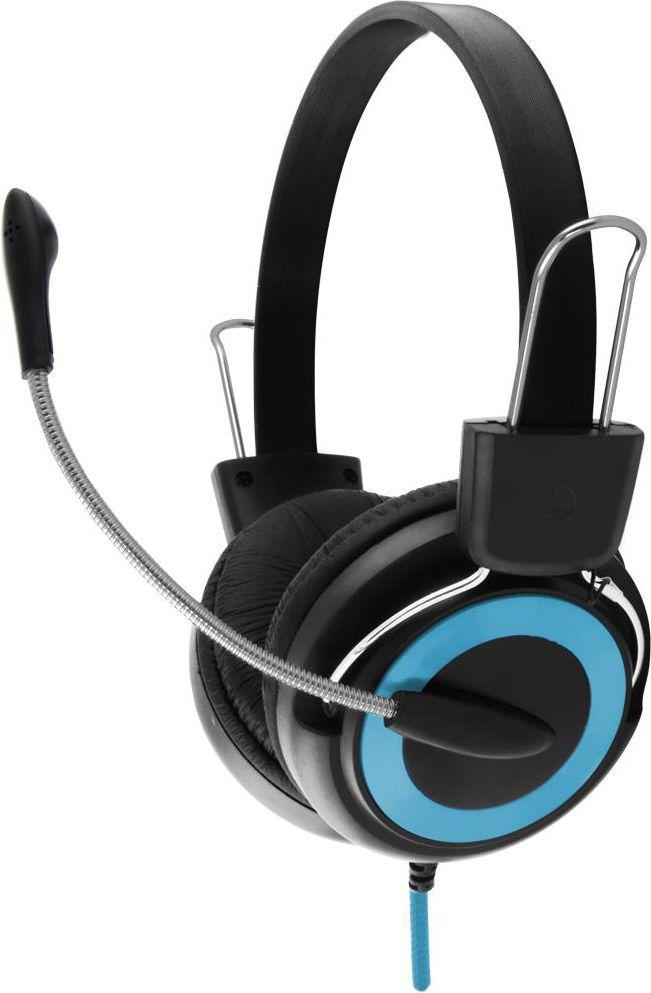 Słuchawki z mikrofonem Esperanza EH152B Czarno-niebieskie 1