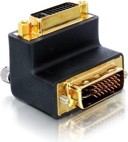 Adapter AV Delock DVI-I(M) 29pin ->DVI-I(F) 29pin kątowy (65173) 1