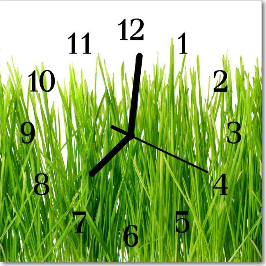 Tulup Zegar szklany ścienny Cichy Trawa Gras 1