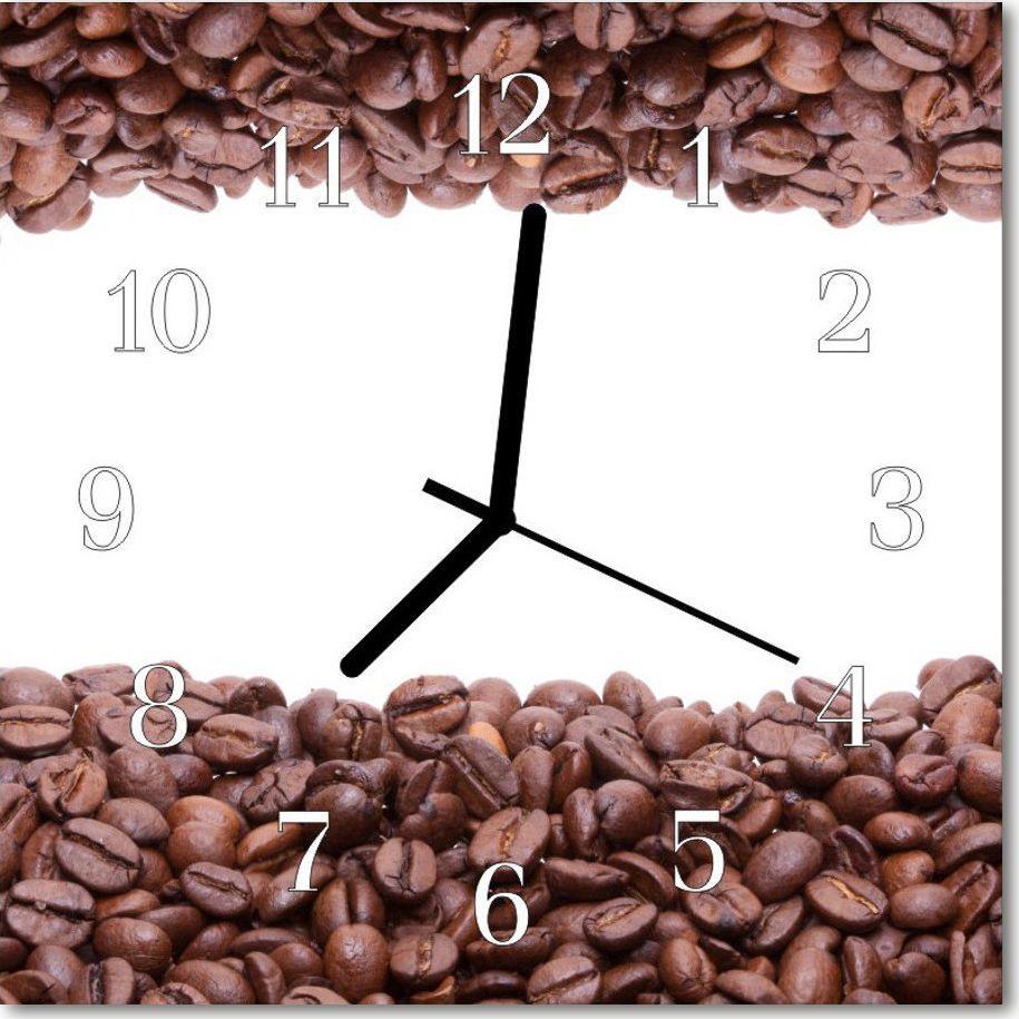 Tulup Zegar szklany ścienny Cichy Ziarna kawy Kuchnia 30x30 105718739 1