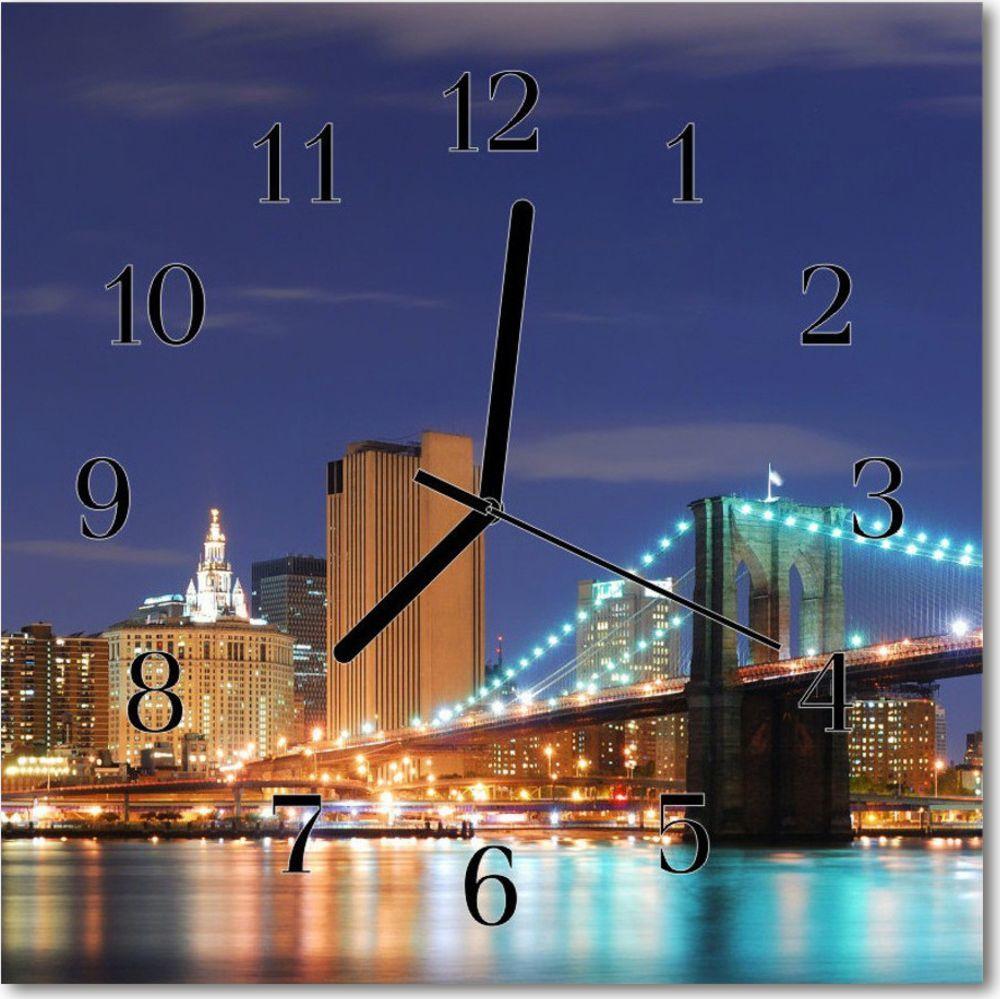 Tulup Zegar ścienny kwadrat Most miasto 30x30 cm -23840899 1