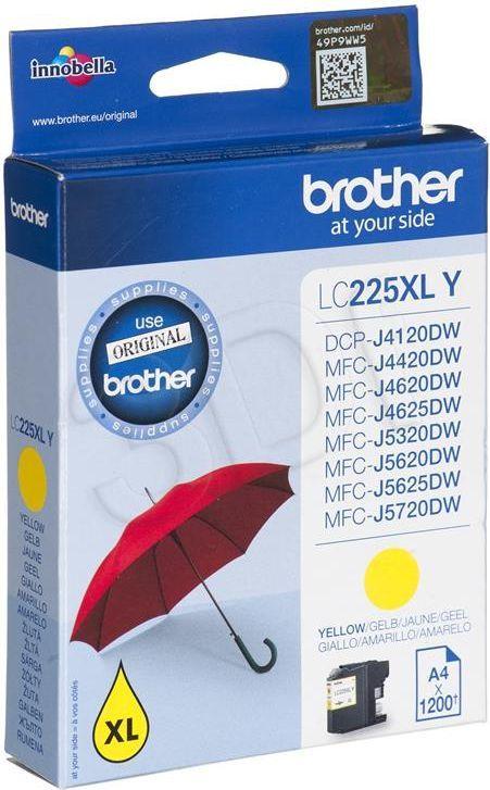 Brother tusz oryginalny LC225XLY (yellow) 1