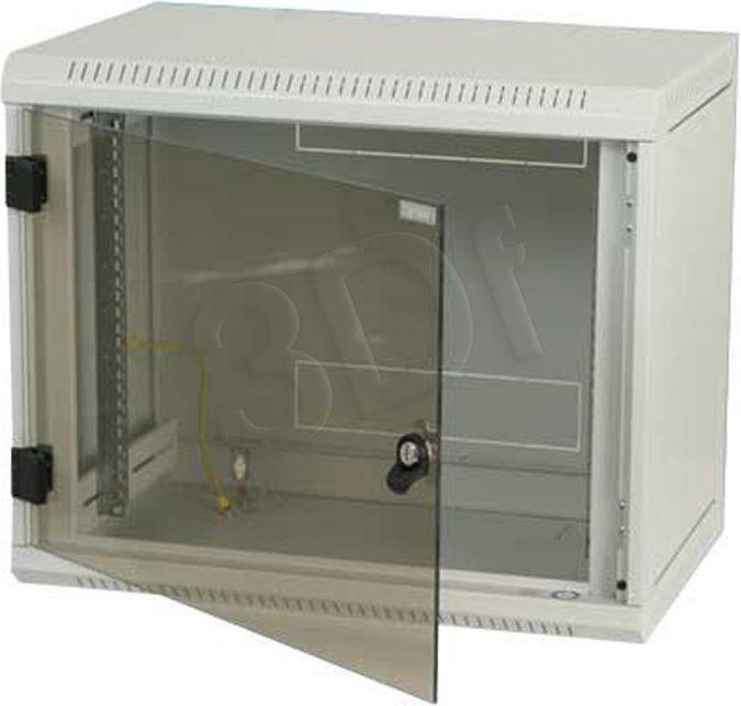 Szafa TriTon wisząca jednosekcyjna 6U, 500mm głębokość, przeszklone drzwi, kolor jasnoszary (RBA-06-AS5-CAX-A1) 1