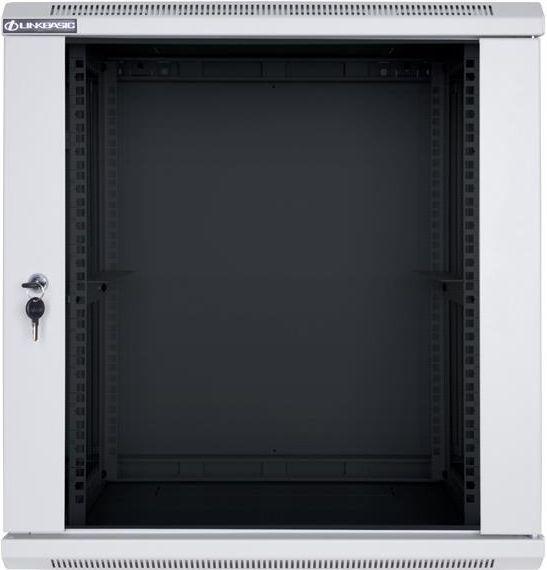 Szafa Linkbasic wisząca rack 19'' 9U 600x450mm szara drzwi przednie szklane (WCB09-645-BAB-C) 1