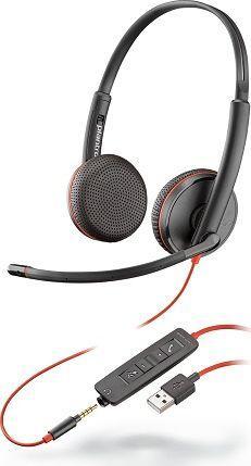Słuchawki z mikrofonem Poly Blackwire Poly C3225 USB-A/IN (209747-201) 1