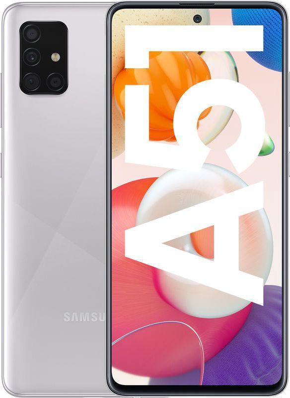 Smartfon Samsung Galaxy A51 128 GB Dual SIM Srebrny  (SM-A515FMSVEUD) 1