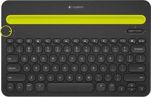 Klawiatura Logitech K480 Bezprzewodowa Czarno-żółta US (920-006366) 1
