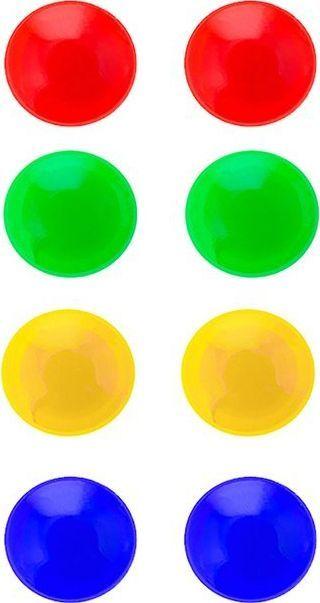 Springos Kolorowe okrągłe magnesy do tablic magnetycznych 8 szt. 1