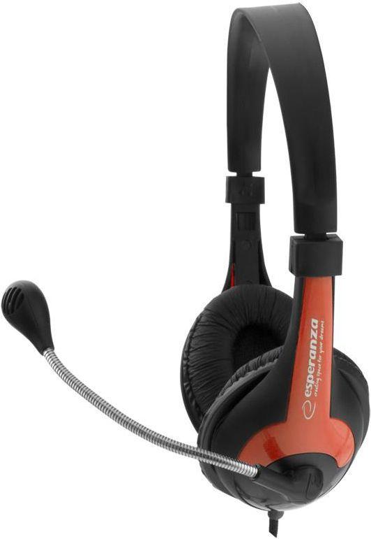 Słuchawki z mikrofonem Esperanza EH158R (5901299908693) 1