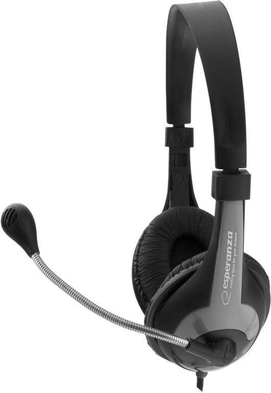 Słuchawki z mikrofonem Esperanza EH158K (5901299908723) 1
