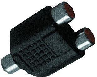 Adapter AV LechPol Rozgał. gn. RCA- gn. 2xRCA (ZLA0306) 1