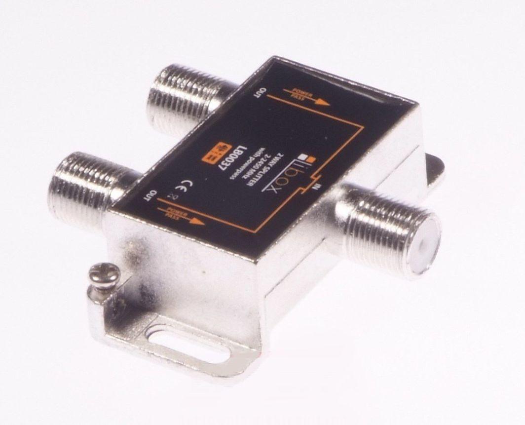 Libox Rozgałęziacz sygnału/Spliter 2 WAYS Power Pass (LB0037) 1