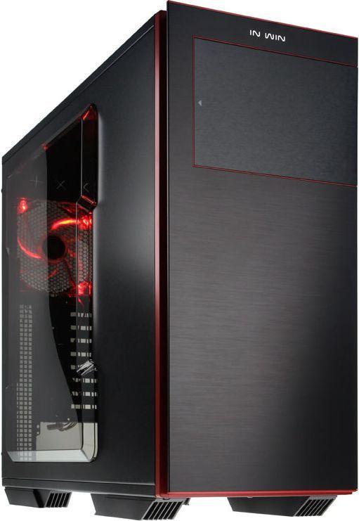 Obudowa In Win 707 USB 3.0 czarno czerwony z oknem (707 black/red) 1