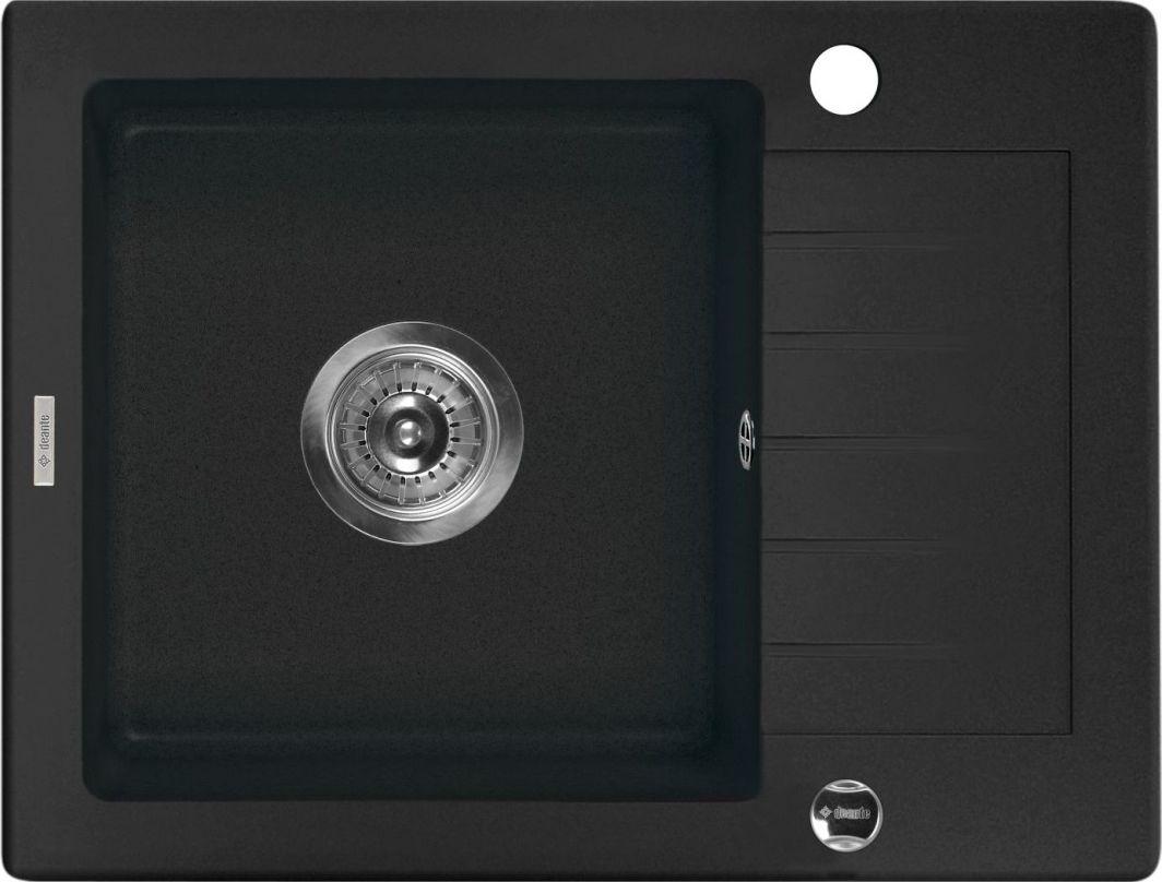 Deante Zlewozmywak 1-komorowy Zorba z krótkim ociekaczem 44 x 58cm grafitowy (ZQZ 211A) 1