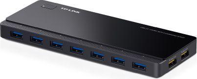 HUB USB TP-Link 7-portowy, USB 3.0, Aktywny, Czarny (UH720) 1