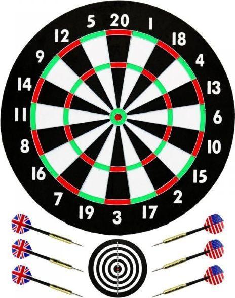 Best Sporting Dart kartonowy 46cm i 6 rzutek (621094) 1
