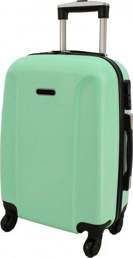 PELLUCCI Mała kabinowa walizka PELLUCCI RGL 790 S Miętowa uniwersalny 1