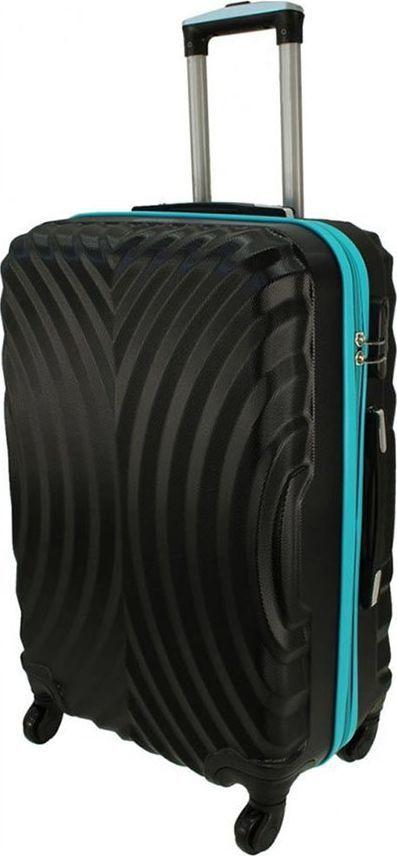 PELLUCCI Mała kabinowa walizka PELLUCCI RGL 760 S Czarno Turkusowa uniwersalny 1