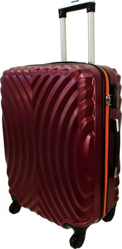 PELLUCCI Mała kabinowa walizka PELLUCCI RGL 760 S Bordowo Pomarańczowa uniwersalny 1