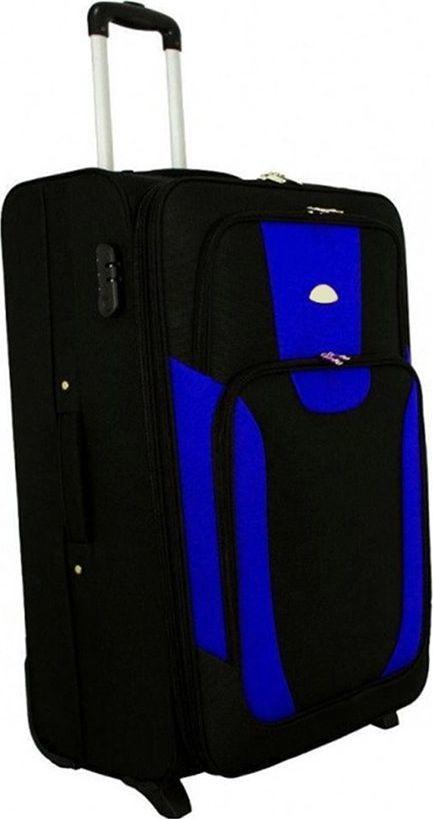 PELLUCCI Mała kabinowa walizka PELLUCCI RGL 1003 S Czarno Niebieska uniwersalny 1