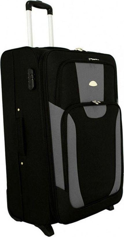 PELLUCCI Mała kabinowa walizka PELLUCCI RGL 1003 S Czarno Szara uniwersalny 1