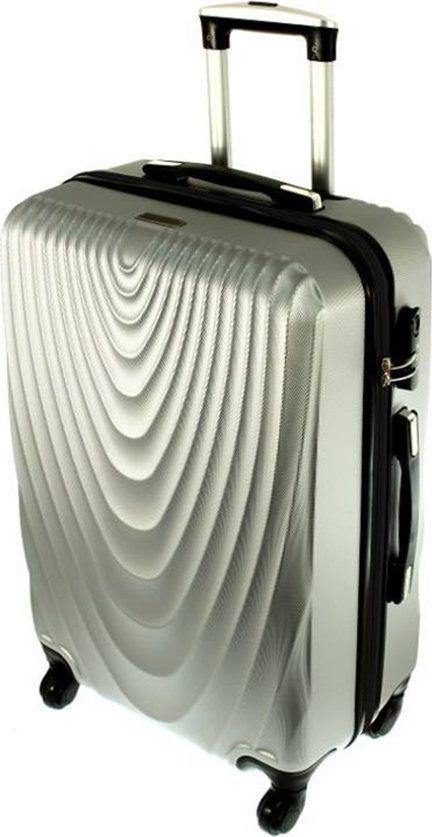 PELLUCCI Mała kabinowa walizka PELLUCCI RGL 663 S Srebrna uniwersalny 1