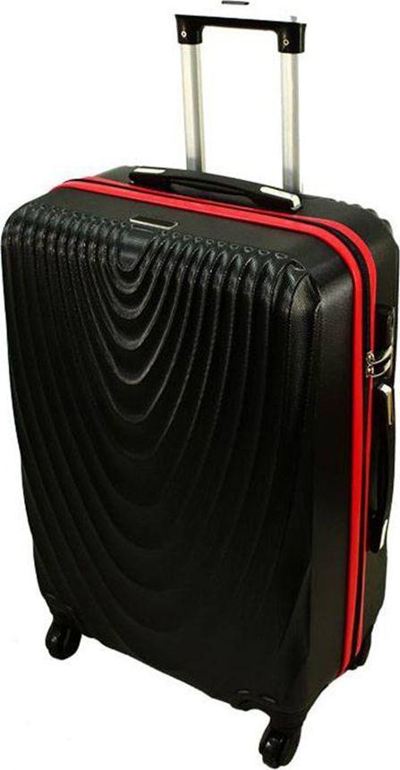 PELLUCCI Mała kabinowa walizka PELLUCCI RGL 663 S Czarno Czerwona uniwersalny 1
