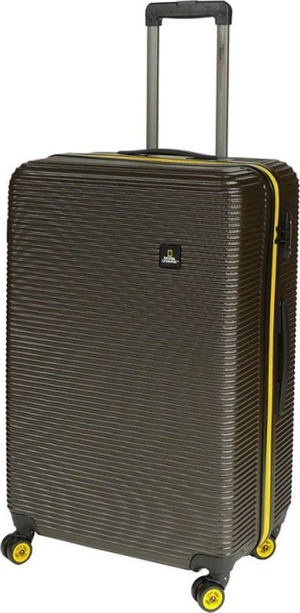 National Geographic Duża walizka NATIONAL GEOGRAPHIC Abroad Khaki uniwersalny 1
