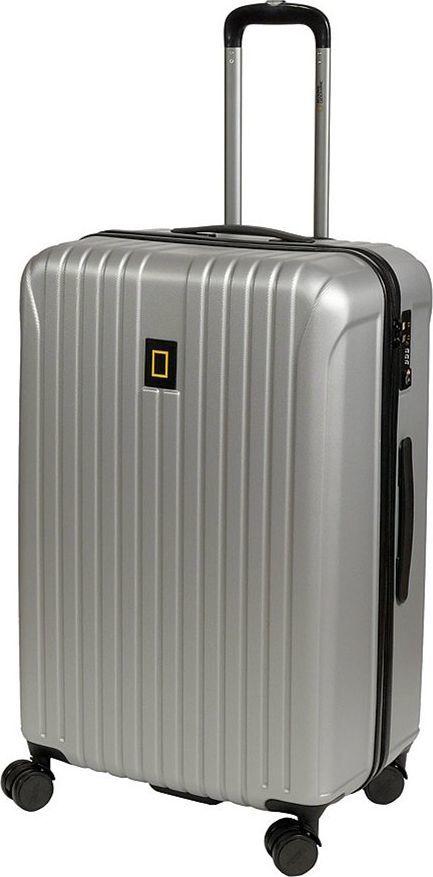 National Geographic Duża walizka NATIONAL GEOGRAPHIC TRACK Srebrna uniwersalny 1