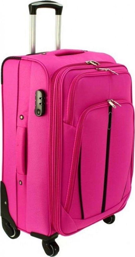 PELLUCCI Duża walizka PELLUCCI RGL S-020 L Różowa uniwersalny 1
