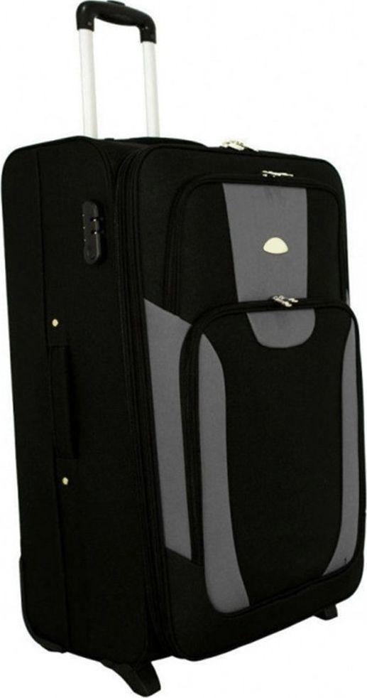 PELLUCCI Duża walizka PELLUCCI RGL 1003 L Czarno Szara uniwersalny 1
