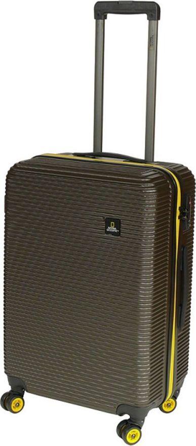 National Geographic Średnia walizka NATIONAL GEOGRAPHIC Abroad Khaki uniwersalny 1
