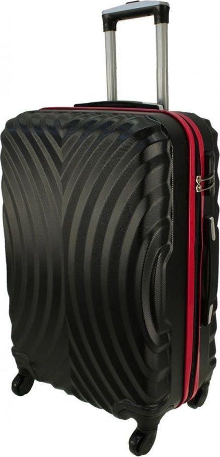 PELLUCCI Średnia walizka PELLUCCI RGL 760 M Czarno Czerwona uniwersalny 1