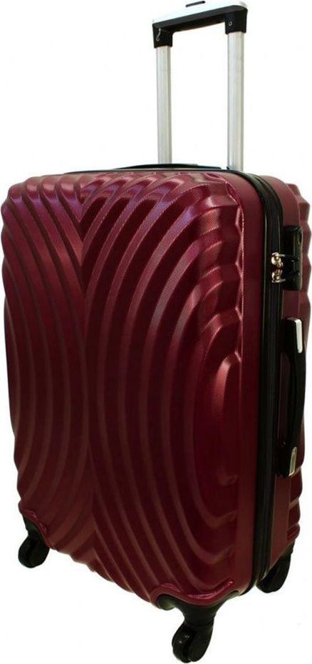 PELLUCCI Średnia walizka PELLUCCI RGL 760 M Bordowa uniwersalny 1
