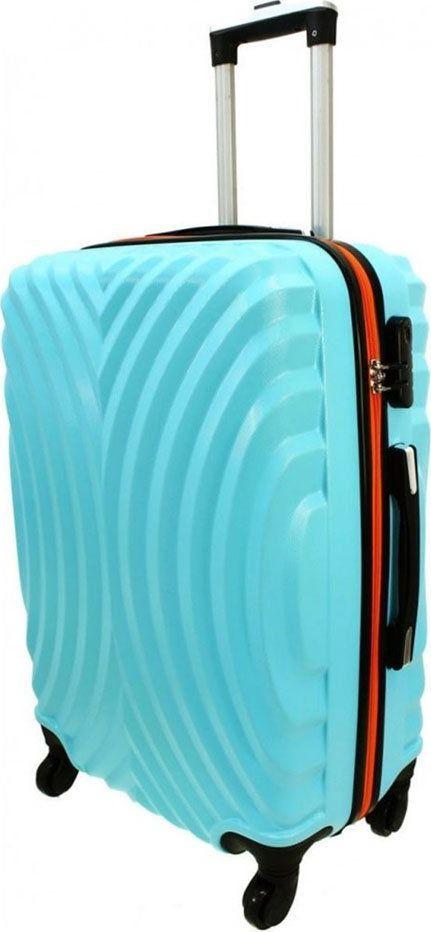 PELLUCCI Średnia walizka PELLUCCI RGL 760 M Turkusowo Pomarańczowa uniwersalny 1