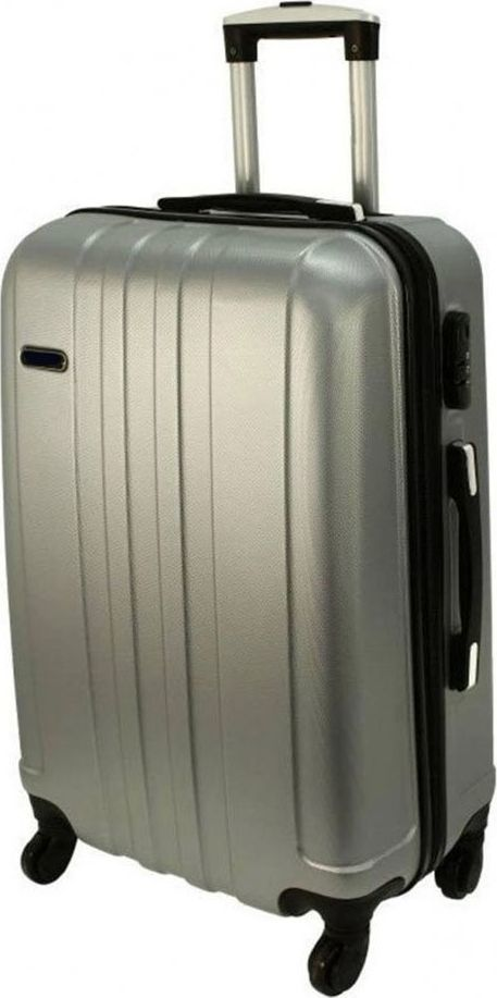 PELLUCCI Średnia walizka PELLUCCI RGL 740 M Srebrna uniwersalny 1