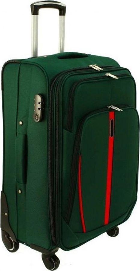 PELLUCCI Średnia walizka PELLUCCI RGL S-020 M Zielona uniwersalny 1