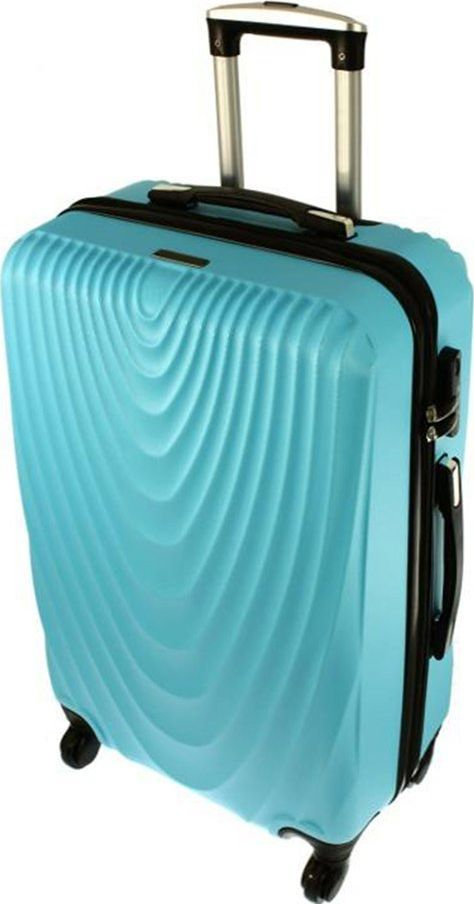 PELLUCCI Średnia walizka PELLUCCI RGL 663 M Turkusowa uniwersalny 1