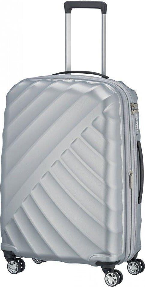 Titan Średnia walizka TITAN Shooting Star 828405-56 Srebrna uniwersalny 1