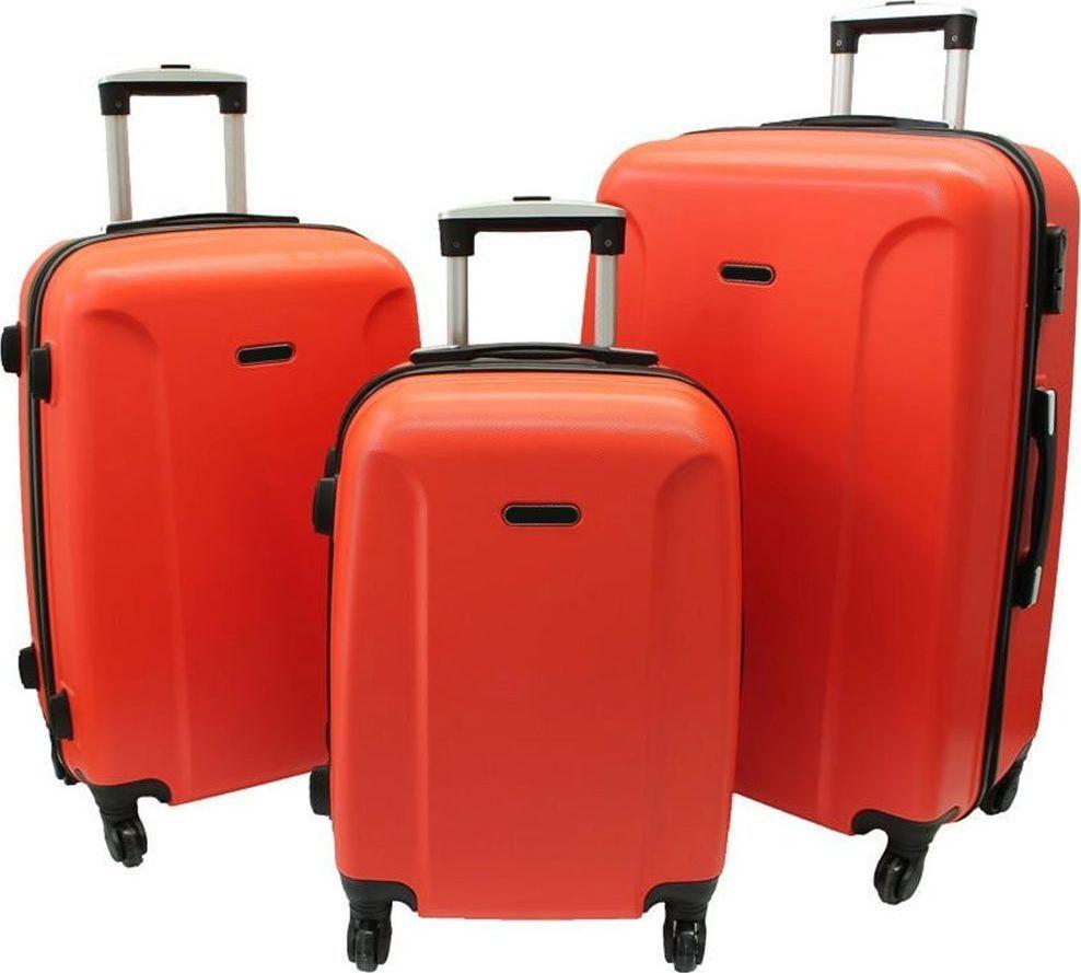 PELLUCCI Zestaw 3 walizek PELLUCCI RGL 790 Pomarańczowe uniwersalny 1