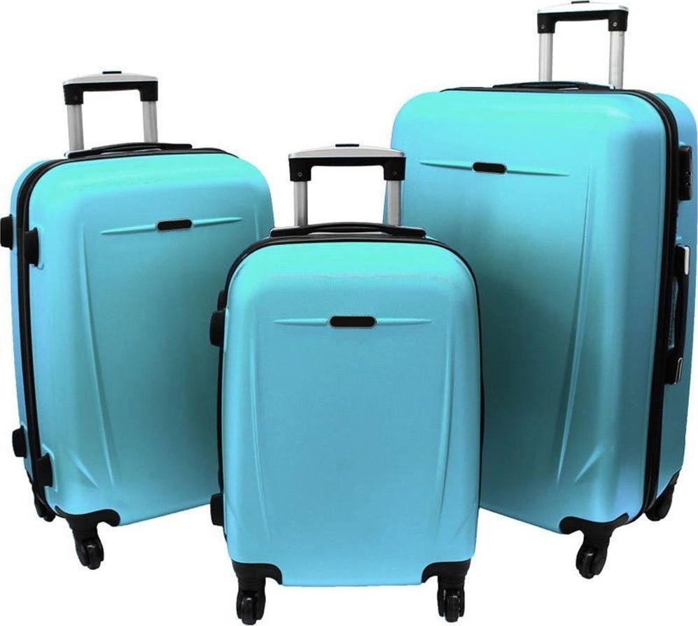 PELLUCCI Zestaw 3 walizek PELLUCCI RGL 780 Turkusowe uniwersalny 1