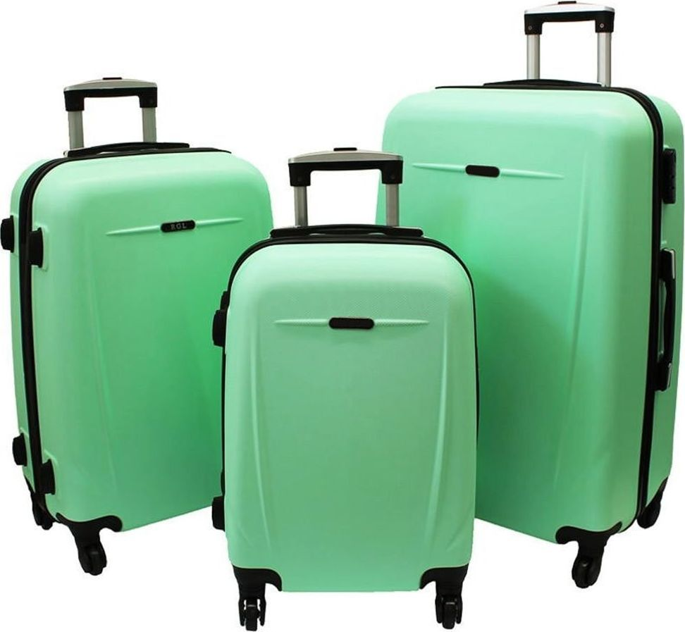 PELLUCCI Zestaw 3 walizek PELLUCCI RGL 780 Miętowe uniwersalny 1