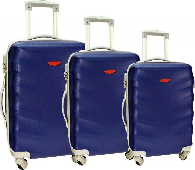 PELLUCCI Zestaw 3 walizek PELLUCCI RGL 81 Granatowe uniwersalny 1