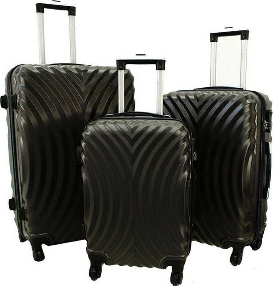 PELLUCCI Zestaw 3 walizek PELLUCCI RGL 760 Szare uniwersalny 1