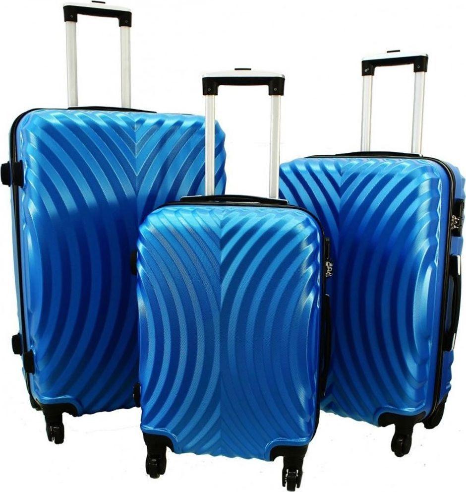 PELLUCCI Zestaw 3 walizek PELLUCCI RGL 760 Niebieskie uniwersalny 1